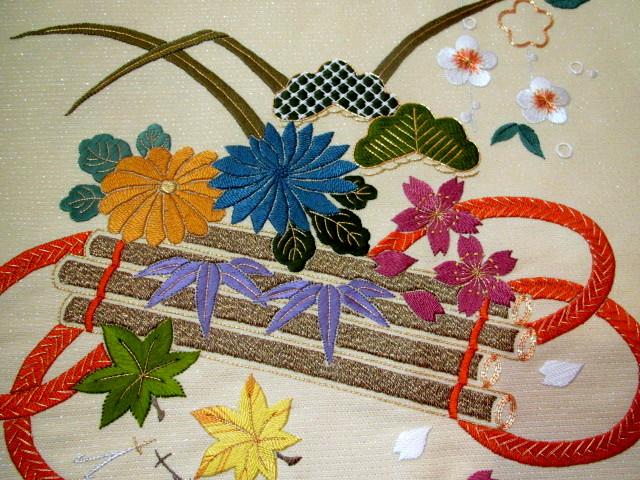 加賀繍の花筏