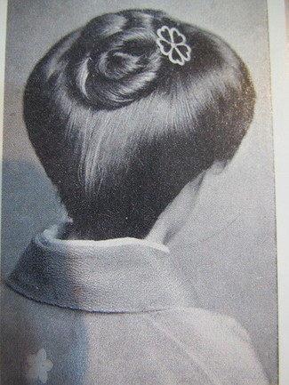 結髪・渦巻きスタイル