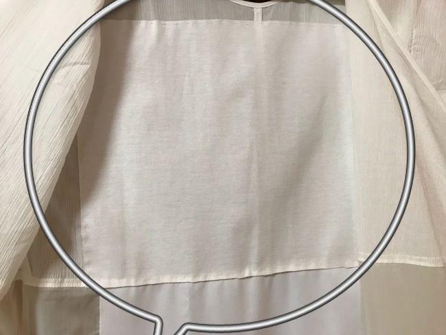 たかはしきもの工房の満点スリップ・綿楊柳・背中部分に防水布を縫い付けた状態