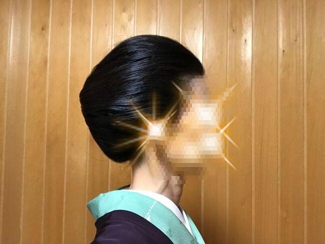 自分で出来る和髪・着物簡単セルフヘアアレンジ・定番スタイル・右サイド