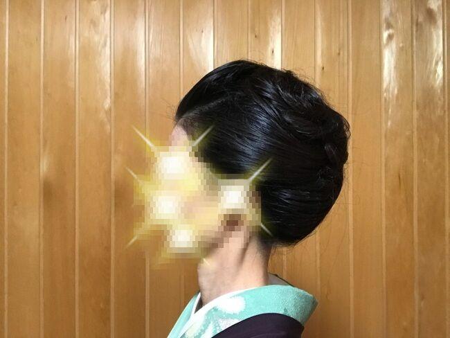 自分で出来る和髪・着物簡単セルフヘアアレンジ・定番スタイル・左サイド