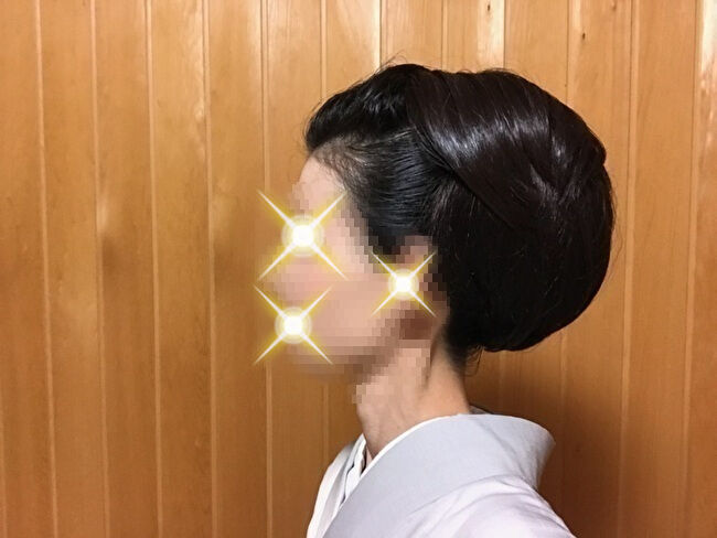 自分で出来る和髪・着物簡単セルフヘアアレンジ②左サイド