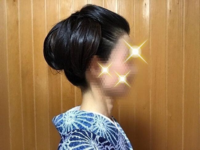 自分で出来る和髪・着物簡単セルフヘアアレンジ①右サイド